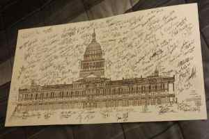 Signed Poster of the Texas Capitol