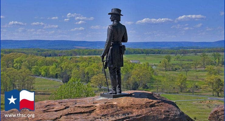 Statue of Union General Gouverneur Warren on Little Round Top - Gettysburg National Military Park