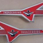 retro Thunderbird emblems