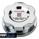 chrome coolant cap