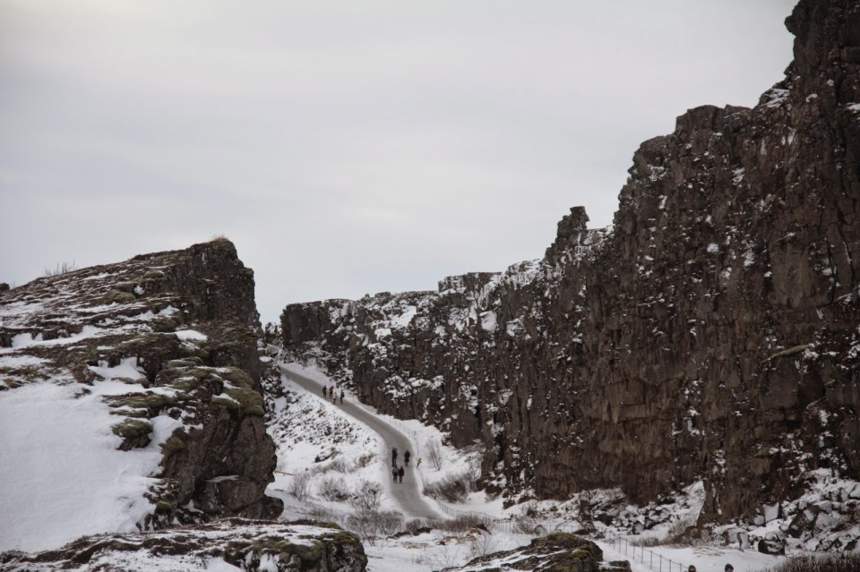 Walking 'between' the two tectonic plates