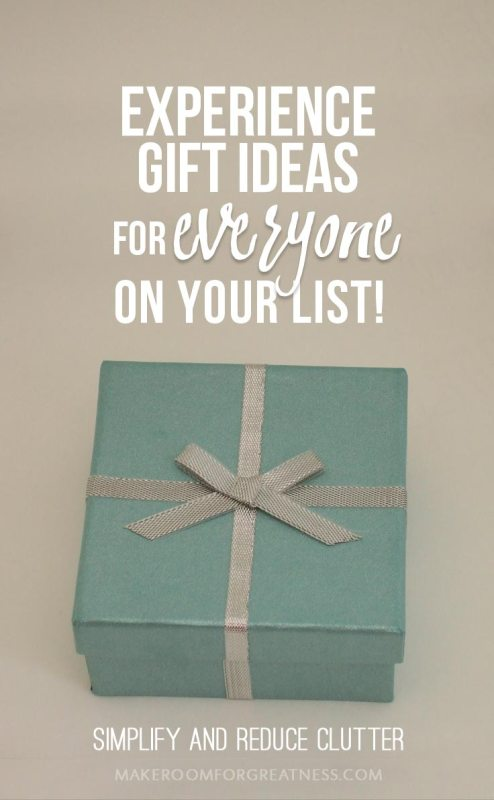 Experience Gifts Guide for Everyone On Your List – Simplify and Reduce Clutter!