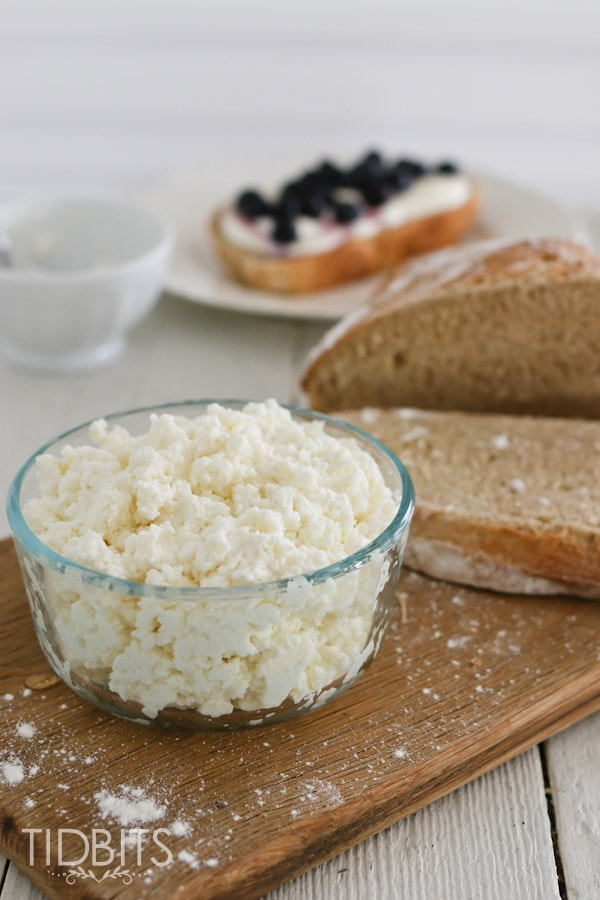 ... easy and super delicious homemade ricotta cheese. Only 3 ingredients