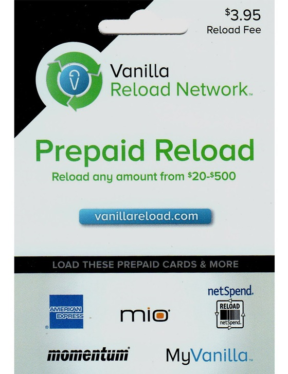 Earning miles with bluebird and vanilla reload card