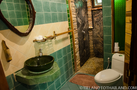 Bathroom Toilet Sink and Shower