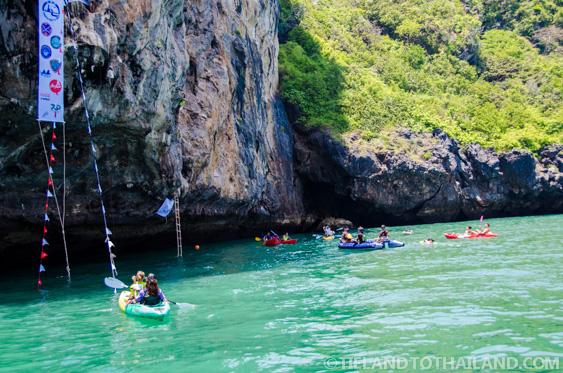 Climbing limestone cliffs at the Krabi Rock and Fire International Contest