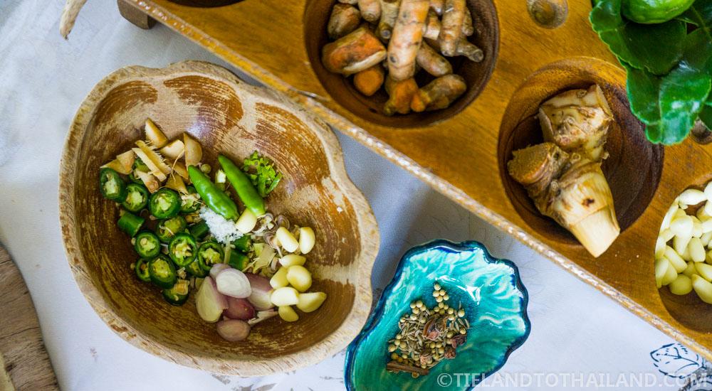 Smile Koh Mak Thai green curry ingredients