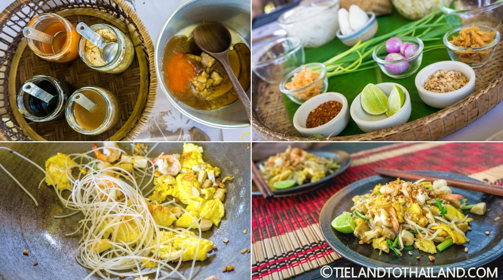 Making pad Thai at Smile Koh Mak in Koh Mak, Thailand