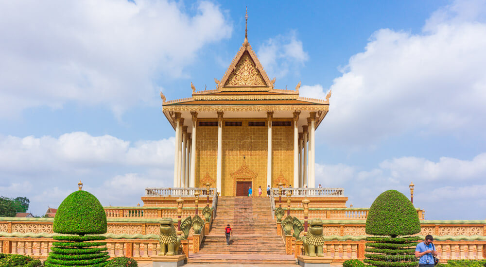 One of the main temples at the U Dong Monastery in Kampong Cham Cambodia