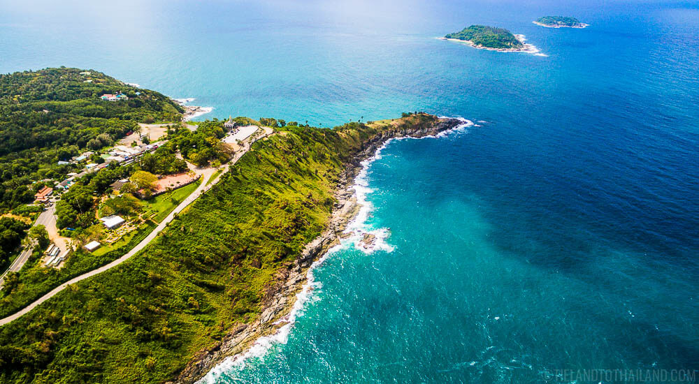 High above Phromthep Cape on the southern tip of Phuket