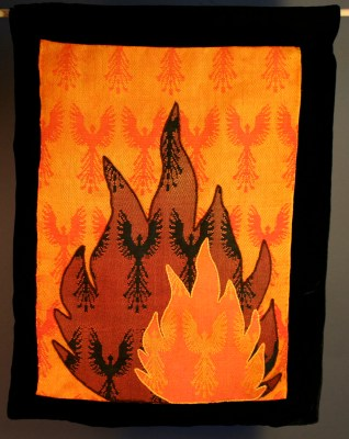 wall hanging with velvet background