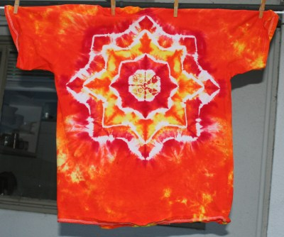 """another attempt at a """"sun"""" mandala"""