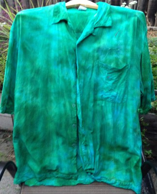 another turquoise and emerald shirt