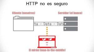 HTTP no es seguro