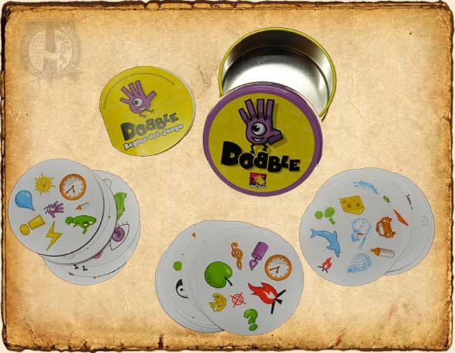 Contenido del juego de cartas Dobble
