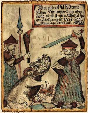 Mitología nórdica: Tyr y el lobo Fenrir