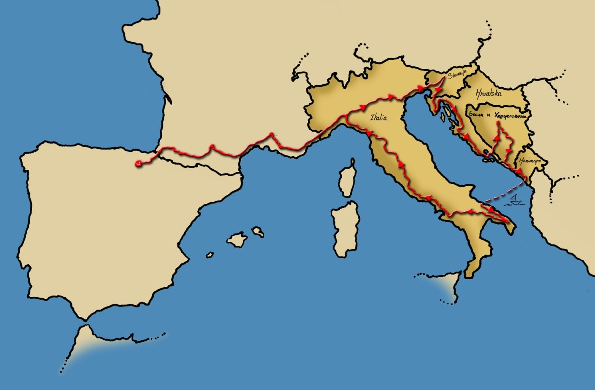 Eslovenia, Croacia, Bosnia, Montenegro e Italia (en furgo), presentación del viaje