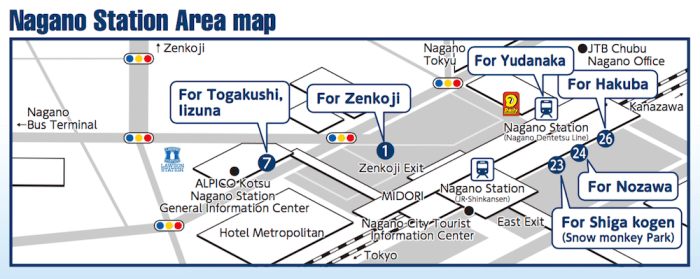 nagano station area map