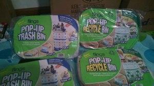 Polka Dot & Recycle bins