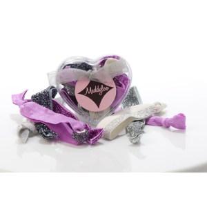 Mini Heart Box - Silver Orchid