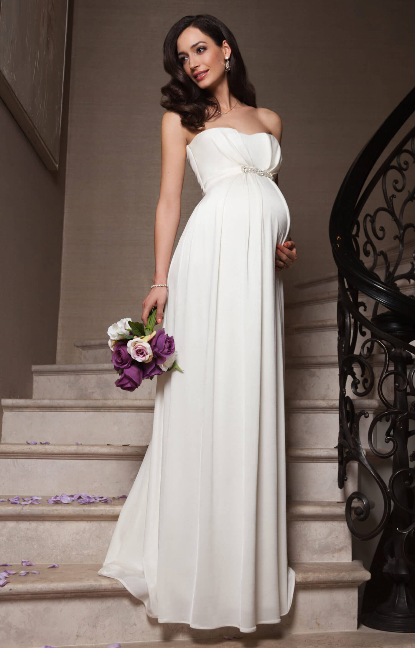 Annabella Maternity Wedding Gown (Ivory) party wedding dresses Annabella Maternity Wedding Gown Ivory by Tiffany Rose