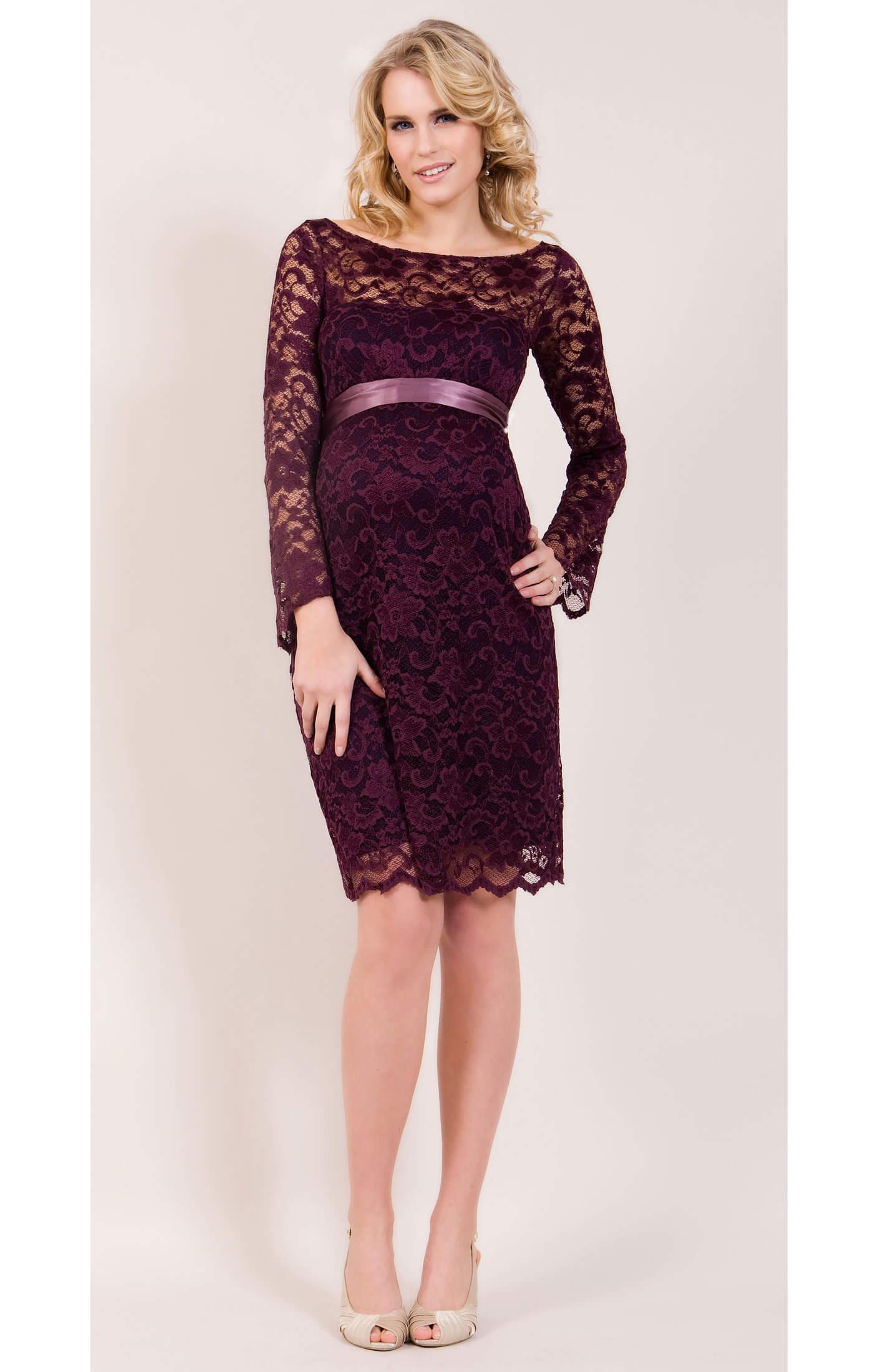 Chloe Lace Maternity Dress (Claret) maternity dresses for weddings Chloe Lace Maternity Dress Claret by Tiffany Rose