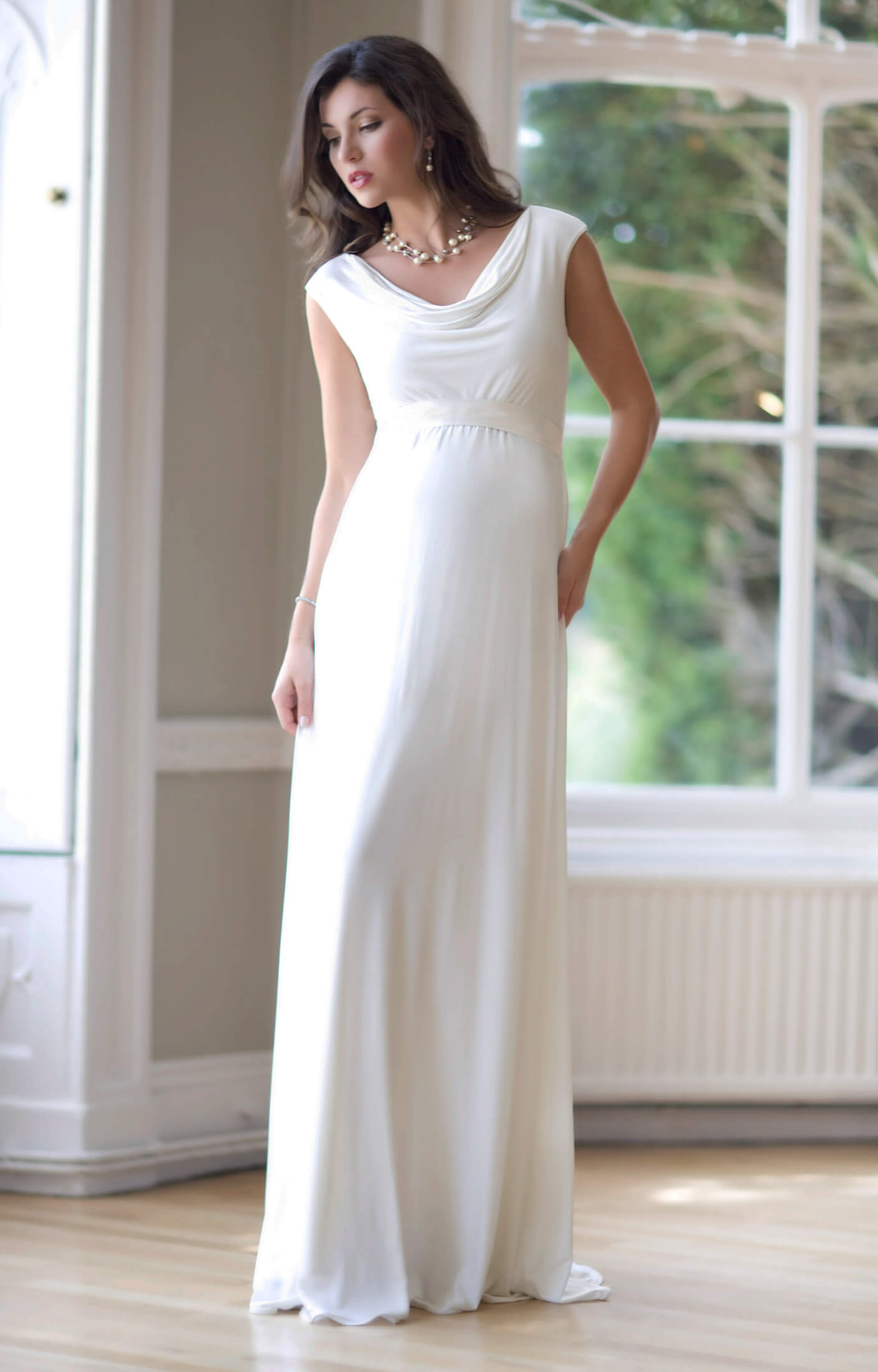 Liberty Maternity Wedding Gown (Ivory) maternity dresses for weddings Liberty Maternity Wedding Gown Ivory by Tiffany Rose