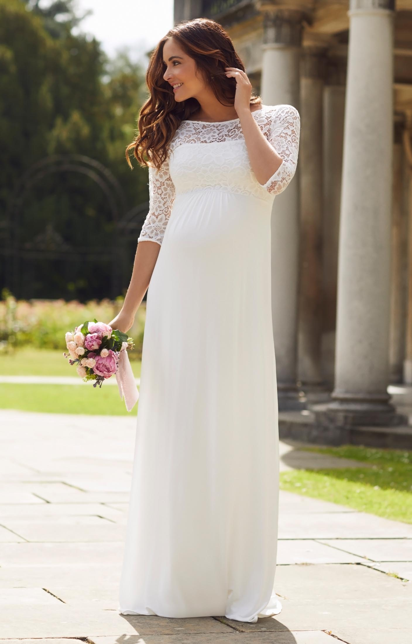 wedding dresses pregnant wedding dress Lucia Maternity Wedding Gown Long Ivory