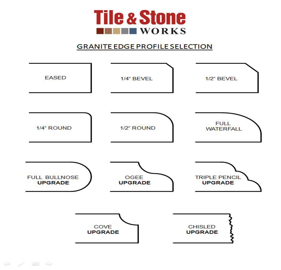 Endearing Granite Edge Profiles Granite Counters Store Fabrication Granite Slab Showroom Granite Bench Edge Profiles Granite Edge Profiles Pencil houzz 01 Granite Edge Profiles