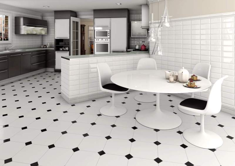 Large Of Black And White Floor Tile