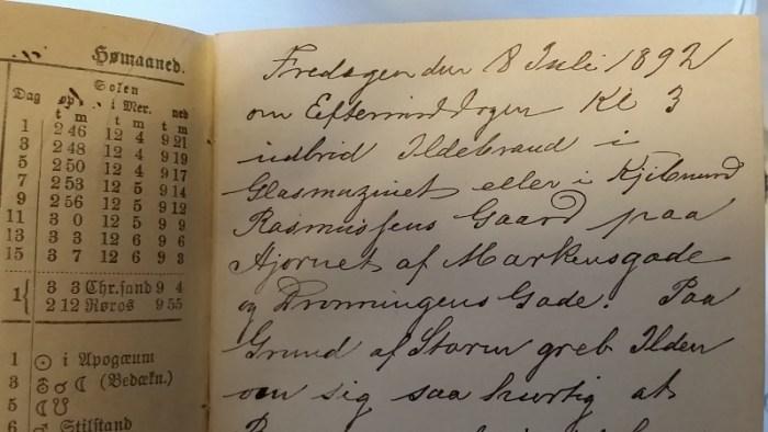 Utdrag fra dagboknotatene til Adolf