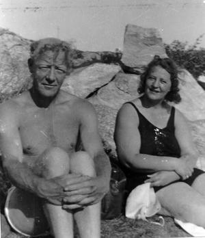 Erna og Nordahl i Skjærva 1930-40 årene