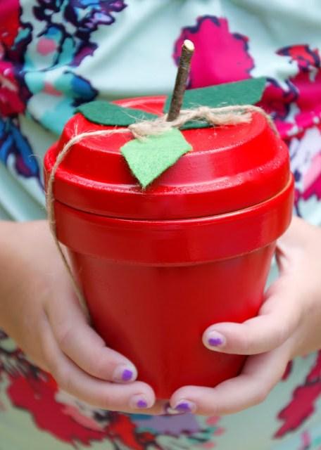 Terracotta apple teacher gift