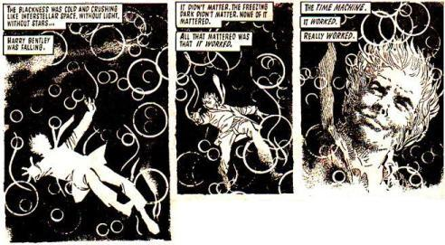 panels from alan moore's the time machine future shock