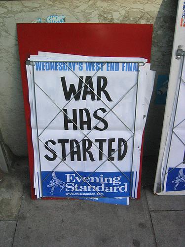 Evening Standard: War Has Started