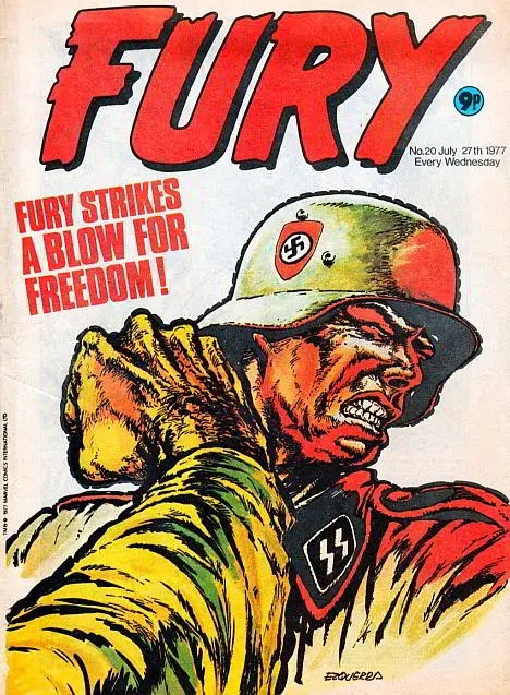 A war comic cover edited by Neil Tennant of the Pet Shop Boys
