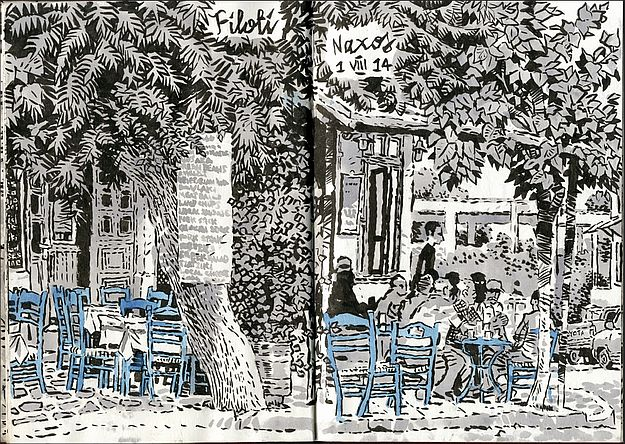 Sketch Of Greece by Simon Gane