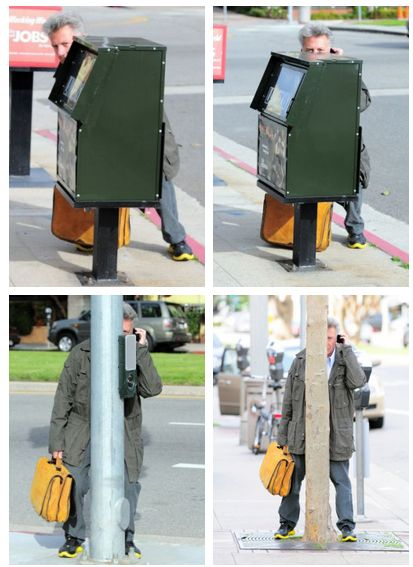 Dustin Hoffman Hiding From Paparazzi