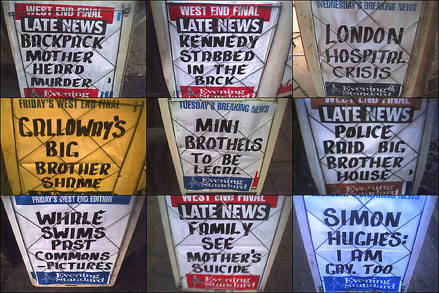 Evening Standard Billboards: January 2006