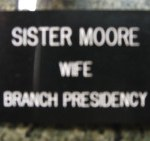 Wife of President.
