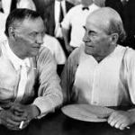 Clarence Darrow and William Jennings Bryan at the Scopes Trial