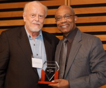 "Tim received a 2012 Innoversity Angel Award for ""an outstanding role in making the media more accessible to persons with disabilities, Aboriginal media professionals, people of colour"" from Innoversity co-founder Hamlin Grange."