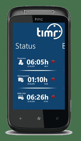 time tracking App Windows Phone