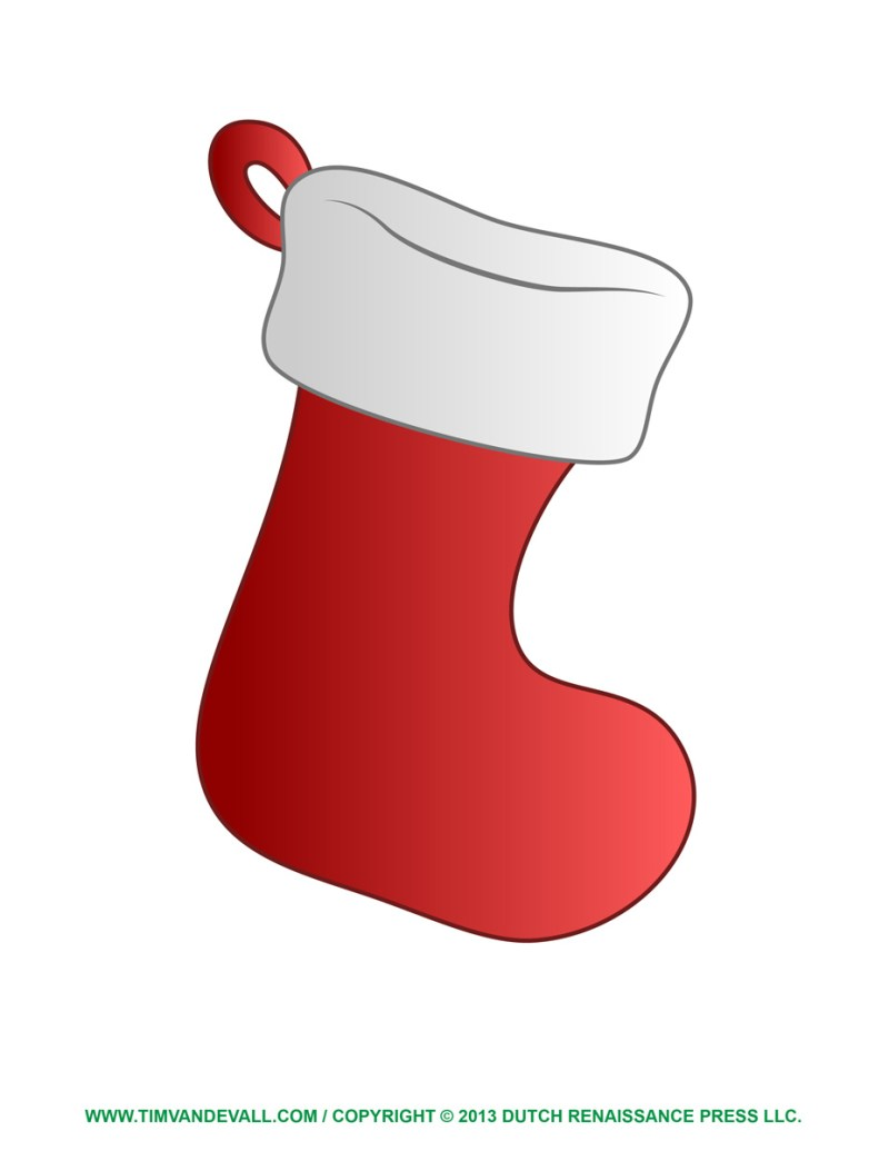 Large Of Christmas Stocking Template