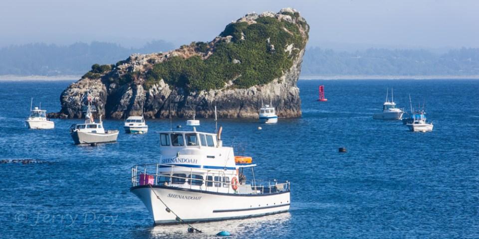 Boats & Rocky Island in Trinidad Bay
