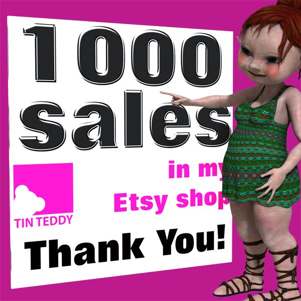 Tin Teddy 1000 Sales Character