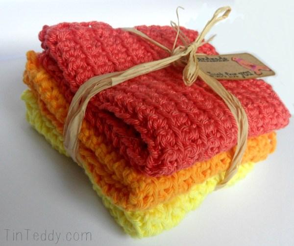 TinTeddy Crochet Washcloths