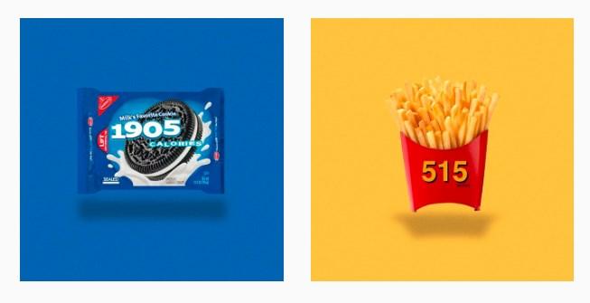 Et si on remplaçait le logo de la bouffe par le nombre de calories ?