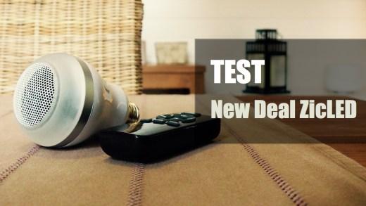 Test – New Deal ZicLed – L'ampoule qui se prend pour une enceinte