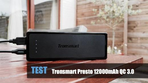 TEST – Tronsmart Presto 12000mAh Quick Charge 3.0